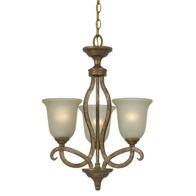 Deena 3-Light Shaded Chandelier