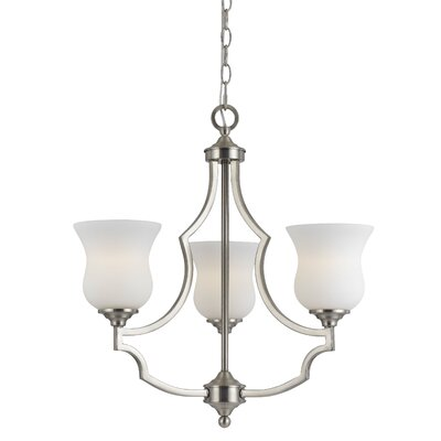 Juliette 3-Light Shaded Chandelier