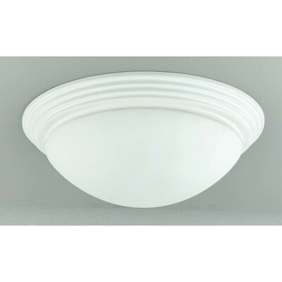 Ledyard 2-Light Flush Mount Shade Color: White