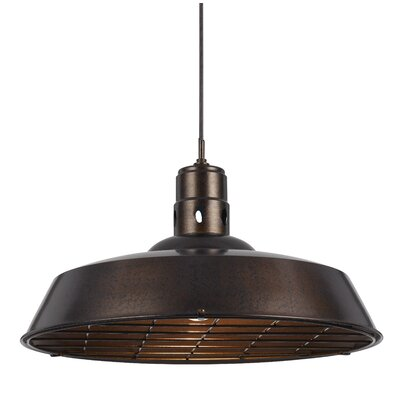Falmouth 1-Light Bowl Pendant Finish: Rust