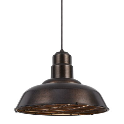 Brendon 1-Light Bowl Pendant Finish: Rust
