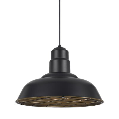 Brendon 1-Light Bowl Pendant Finish: Dark Bronze