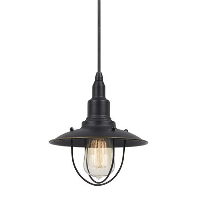 Brazley 1-Light Bowl Pendant Finish: Dark Bronze