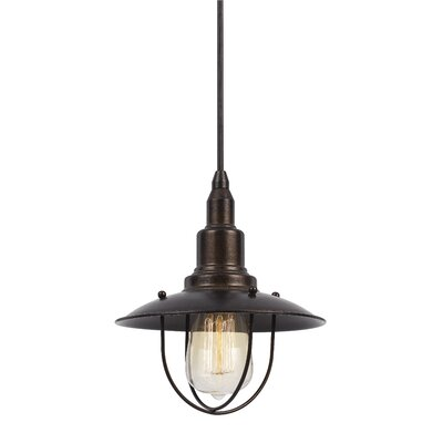 Brazley 1-Light Bowl Pendant Finish: Rust