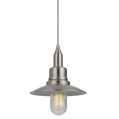 Brayville 1-Light Bowl Pendant Finish: Brushed Steel