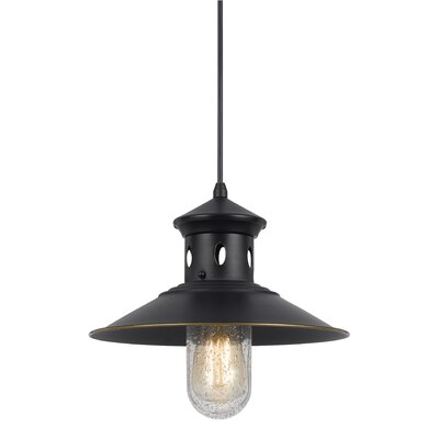 Braywood 1-Light Bowl Pendant Finish: Dark Bronze