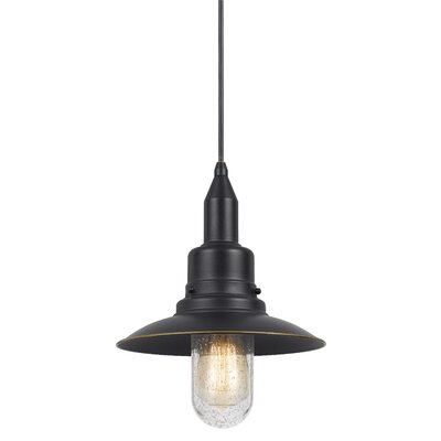 Brayville 1-Light Bowl Pendant Finish: Dark Bronze