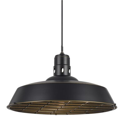 Falmouth 1-Light Bowl Pendant Finish: Dark Bronze