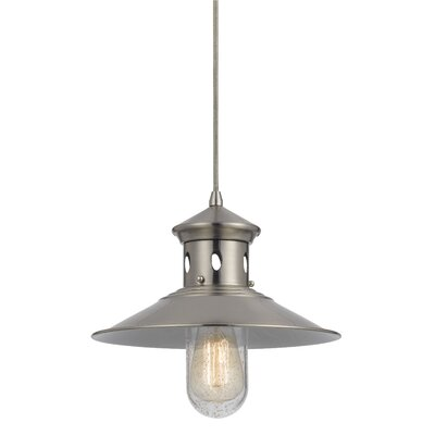 Braywood 1-Light Bowl Pendant Finish: Brushed Steel