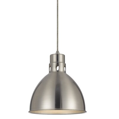 Kirkwood 1-Light Mini Pendant Finish: Brushed Steel