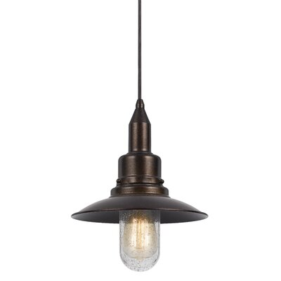 Brayville 1-Light Bowl Pendant Finish: Rust