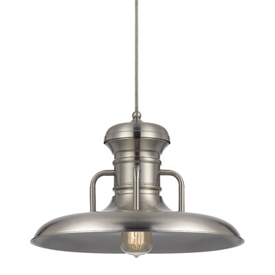 Brenda 1-Light Bowl Pendant Finish: Brushed Steel