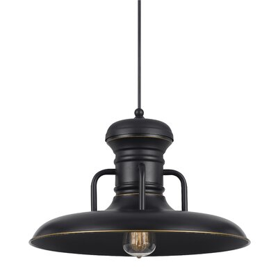 Brenda 1-Light Bowl Pendant Finish: Dark Bronze