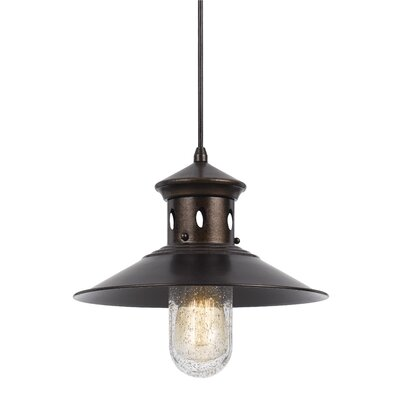 Braywood 1-Light Bowl Pendant Finish: Rust