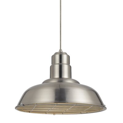 Brendon 1-Light Bowl Pendant Finish: Brushed Steel