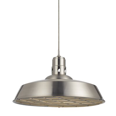 Falmouth 1-Light Bowl Pendant Finish: Brushed Steel