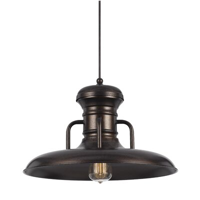 Brenda 1-Light Bowl Pendant Finish: Rust