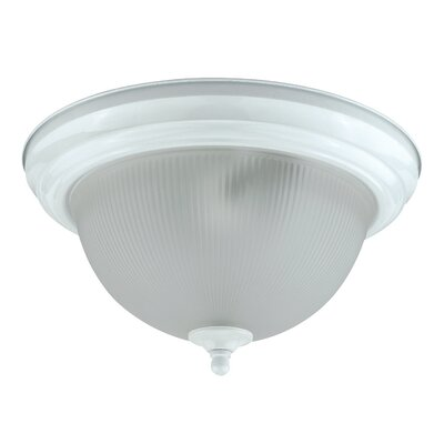 Leavitt 2-Light Flush Mount Shade Color: Polished Brass