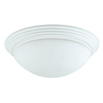 Guadalupe 2-Light Flush Mount Shade Color: White