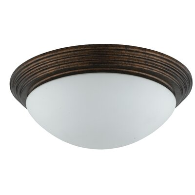 Guadalupe 2-Light Flush Mount Shade Color: Rust