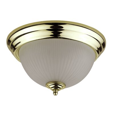 Gobert Flush Mount Shade Color: Polished Brass