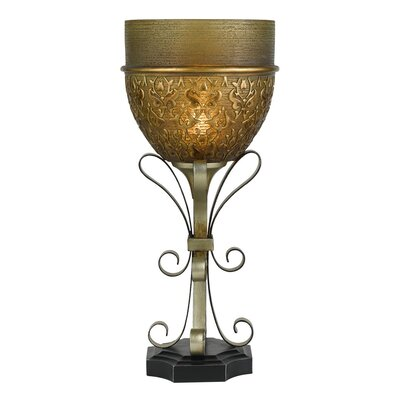 Table Torchiere Lamp in Sterling