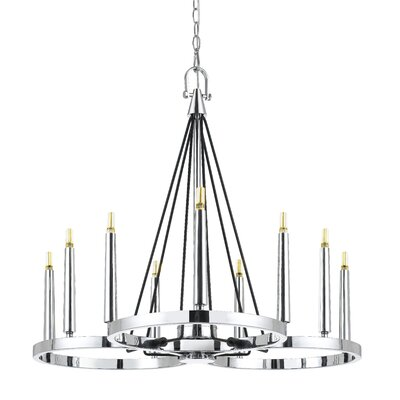 Cedric 9-Light LED Candle-Style Chandelier