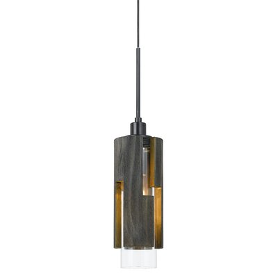 Chamlee Wood 1-Light Mini Pendant