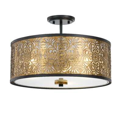 Bravington 3-Light Semi Flush Mount