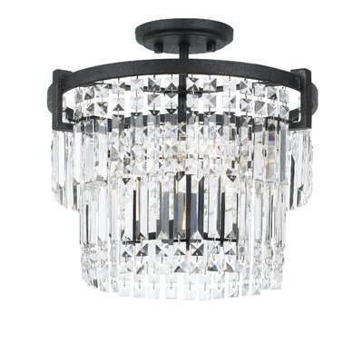 Hillcrest 3-Light Semi Flush Mount
