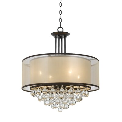 Weaver Double Shade 4-Light Drum Chandelier
