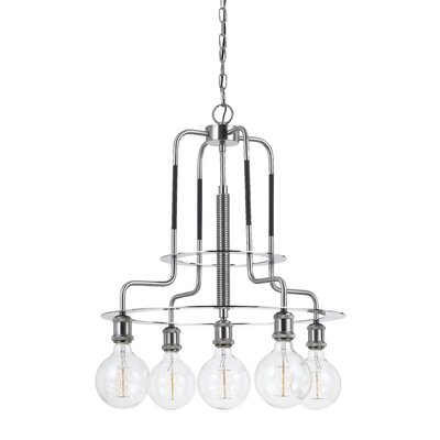 Kilmarnock Metal 5-Light Shaded Chandelier
