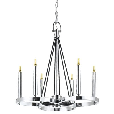 Cedric 6-Light LED Candle-Style Chandelier