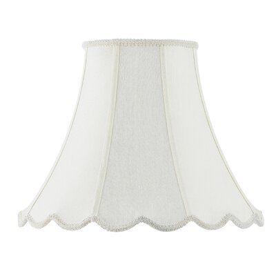 12 Fabric Bell Lamp Shade Color: White