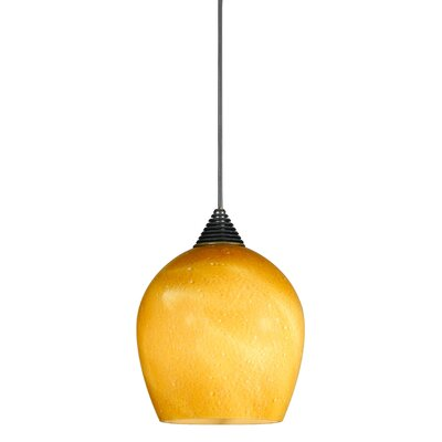 Winthrop 1-Light Mini Pendant Base Finish: Brushed Steel