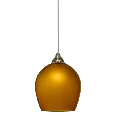 Wendell 1-Light Mini Pendant Base Finish: Dark Bronze