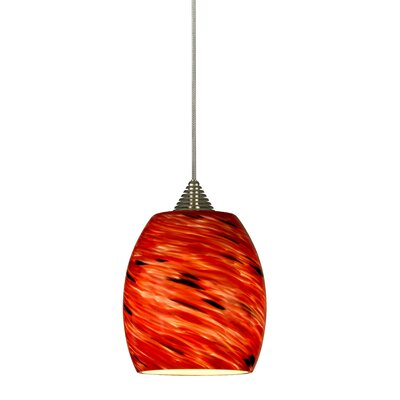 Brando 1-Light Mini Pendant Base Finish: Rust