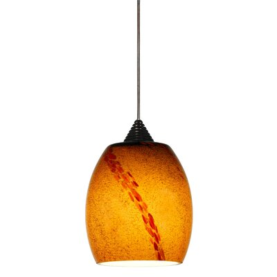 Torino 1-Light Mini Pendant Base Finish: Dark Bronze