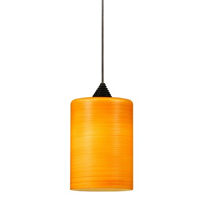Brandy 1-Light Mini Pendant Base Finish: Dark Bronze