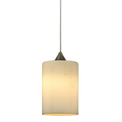 Colt LED 1-Light Mini Pendant Finish: Brushed Steel, Cord Color: Rust