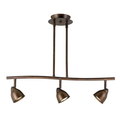 Serpentine 3 Light Track Light with Spot Glass Shade Color: Rust