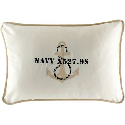 Free Style Anchor Throw Pillow Fabric: Off White