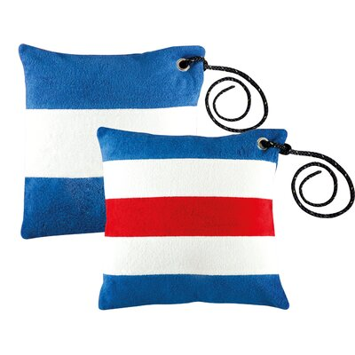 Free Style Nautical Code Flag Throw Pillow