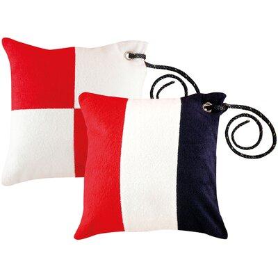 Free Style Nautical Code Flag Throw Pillow
