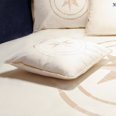 Free Style North Star Throw Pillow Fabric: Off White