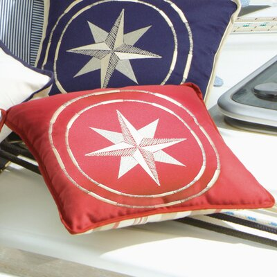 Free Style North Star Throw Pillow Fabric: Burgundy