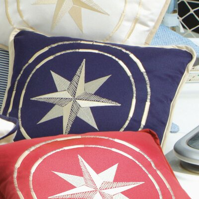 Free Style North Star Throw Pillow Fabric: Navy Blue