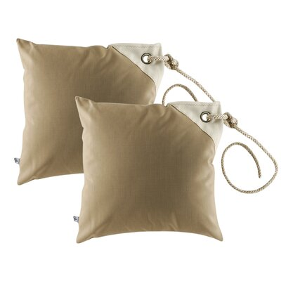 Free Style Nautical Fender Throw Pillow Fabric: Beige