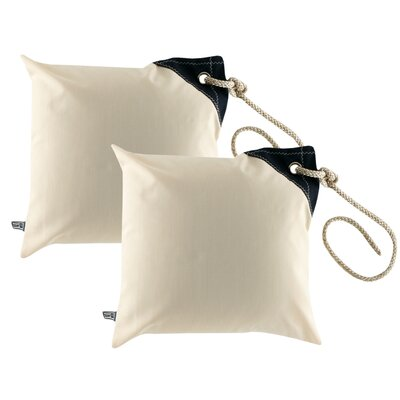 Free Style Nautical Fender Throw Pillow Fabric: Off White