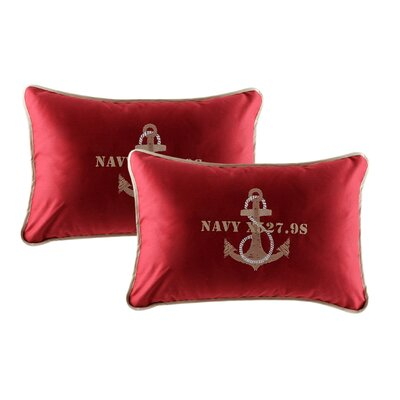 Free Style Anchor Throw Pillow Fabric: Burgundy